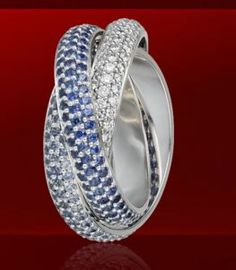 Cartier Trinity - white gold, blue saphire, diamonds £21,200