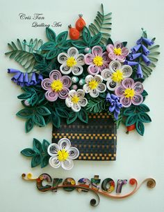 quilling beauty flowers