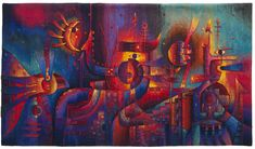 Maximo Laura, of Lima, Peru | Inner Cosmos, 122 x 217 cm, Alpaca wool, cotton, mixed fibers. Hand-woven Tapestry