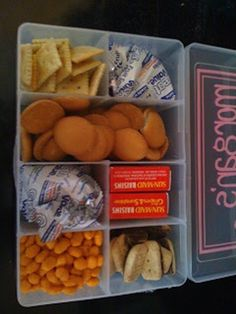 If you have kids, use an art supply box to keep snacks for your children on road trips.   Community Post: 25 Mind-Blowing Tips That Will Change The Way You Pack For Travel