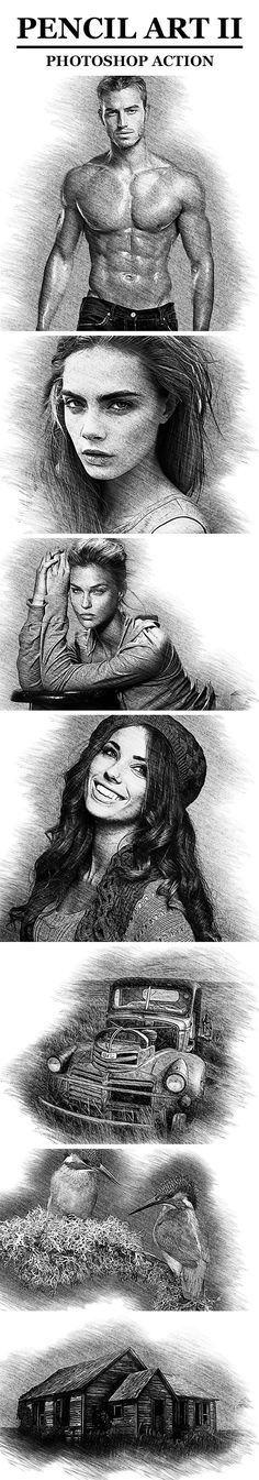 Pencil Art II Photoshop Action - Photo Effects Actions