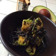 "Marinade salad of marine-plants""Hijiki"" with 黒七味/黒七味を効かせたアボカドと芽ひじきのマリネサラダ"