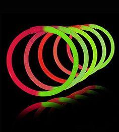 "6/"" Premium Thick GLOW STICKS Long Lasting 12hrs Neon Green Colours Pack Bulk UK"