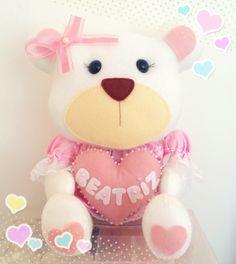 Ursa com nome feltro