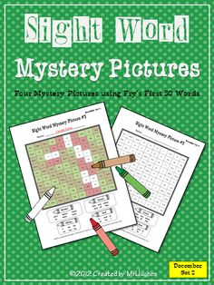 The holiday fun continues with my Sight Word Mystery Pictures DECEMBER SET #2 of 4. Your students will love coloring these all new holiday themed mystery pictures.  December Set 2 includes the following pictures:  -Present  -Ornaments  -Candy Cane  -Wreath    Also included is a color answer key for each picture. ($)