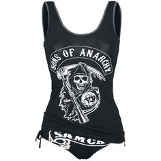 "Sons Of Anarchy Ropa Interior, Mujer ""Angel Reaper"" Negro • EMP"