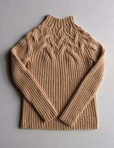 Ravelry: Botanical Yoke Pullover pattern by Purl Soho inspiration purl soho Botanical Yoke Pullover Knitting Designs, Knitting Patterns Free, Knit Patterns, Free Knitting, Knitting Projects, Knitwear Fashion, Knit Fashion, Purl Soho, Warm Dresses