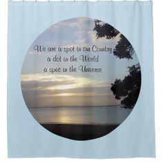 Nature Photo Universe Quote by Kat Worth Shower Curtain - home gifts ideas decor special unique custom individual customized individualized