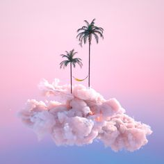 Inspired by the Itsukushima Shrine in Japan, the multidisciplinary designer Yomagick created a series of dreamlands. Between floating clouds and a pastel sky Ciel Pastel, Pastel Sky, Sky Aesthetic, Purple Aesthetic, Fuchs Illustration, Graphic Illustration, Foto Macro, 3d Fantasy, Surreal Art