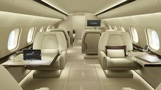 Private Jet Interior Design for Your Great Jet Plane - private jet plane- Book today at www.flywithvilliers.com @flywithvilliers