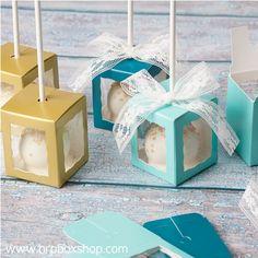 Single Cake Pop Favor Boxes by BRP Box Shop