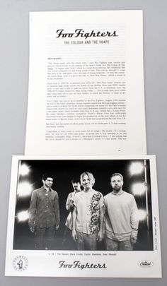 For Sale - Foo Fighters The Colour And The Shape USA Promo  media press pack PRESS PACK - See this and 250,000 other rare & vintage vinyl records, singles, LPs & CDs at http://eil.com