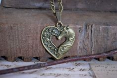Celtic+Horse+Necklace+Rohan+Inspired+Heart+by+TempletonTreasures,+$15.00