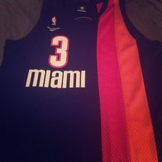 NBA WADE JERSEY MIAMI HEAT DWAYNE WADE MIAMI FLORIDANS hardwood classic, perfect condition, never worn only has been a display jersey . Original pink and orange colors.  Reebok Tops Tees - Long Sleeve