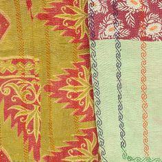 Large Kantha Quilt - Multi-Color