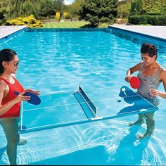 Play ping-pong in your pool! Play ping-pong in your pool!