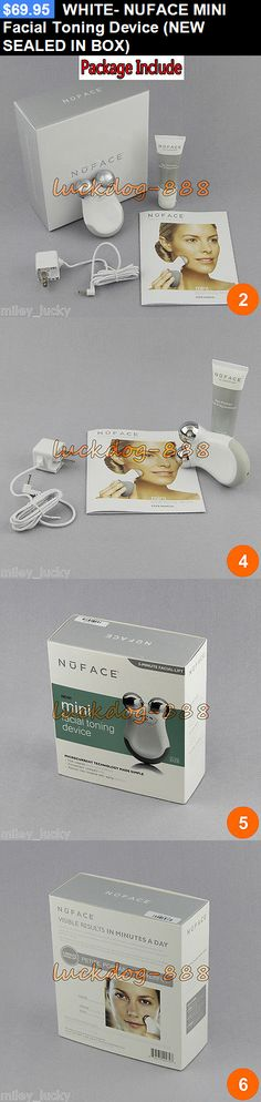 Home Skin Care Devices: White- Nuface Mini Facial Toning Device (New Sealed In Box) BUY IT NOW ONLY: $69.95