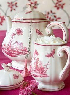 beautiful pink china