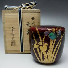 Japanese lacquered matcha container NATSUME for sale