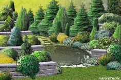 Projekt ogrodu:Skalniaki kaskadowe. - Wiosna