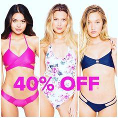 ALL @frankiesbikinis in store 40% OFF! (All sales are final).   #kateandlace #sale #discount #frankiesbikinis #shoplocal #boutique #shopsmall #boutiqueshopping #bikinis #swimstore #westlakevillage #california