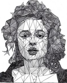 I've never been a fan of geometry, but I found Josh Bryan's artistic use of a basic geometric shape simply irresistible. The 20-year-old English artist uses triangles of various sizes to create incredibly detailed portraits of celebrities he calls triangulations.
