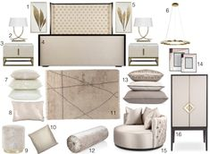 cream elegant bedroom design How to create a glamorous and sophisticated interior : elegant luxurious stunning and sophisticated chic interiors: bedroom design Elegant Bedroom Design, Best Sofa, Home Accessories, Sofas, My Design, Armchair, Table Lamp, Glamour, Interiors