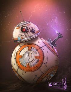 BB-8!, Shane Molina on ArtStation at https://www.artstation.com/artwork/n2md4