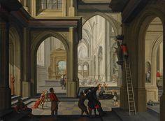 Beeldenstorm in een kerk - een schilderij van de beroemde Arnemuidse burgemeester en kunstenaar Dirck van Delen. Dit is het enige bekende schilderij dat van de beeldenstorm is gemaakt.