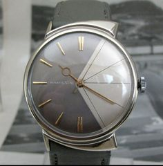 Hamilton T-403 Vintage Watch (very rare white gold/silver dial variation)