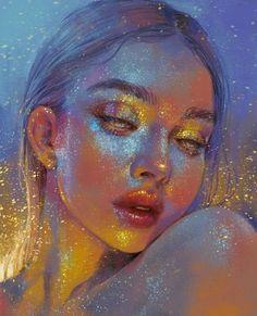 60 ideas for drawing art ideas sketches texture Bel Art, Digital Art Girl, Pretty Art, Art Sketchbook, Portrait Art, Digital Portrait, Aesthetic Art, Aesthetic Painting, Aesthetic Drawing