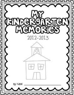 looking back memory book for pre k kindergarten 1st or 2nd grade - Printable Kindergarten Books