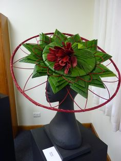 A hat made from Horticultural Material - Inter club - second prize