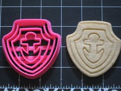 Paw Patrol Zuma Cookie Cutter Stamp Set Hovercraft Navy Sailor Anchor Pink BPA FREE | Unique Cookie Cutters