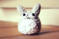 Mini Totoro crochet amigurumi doll Studio Ghibli by BramaCrochet