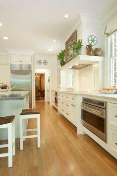 white modern american kitchen design #espacios