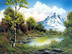 """To commemorate what would have been the 70th birthday of late Bob Ross--a gentle man who loved animals and painted """"happy little trees."""""""