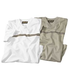 Lot De 2 Tee-Shirts Col V : http://www.atlasformen.fr/products/grandes-tailles/lot-de-2-tee-shirts-col-v/11477.aspx