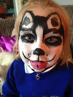 Husky face paint