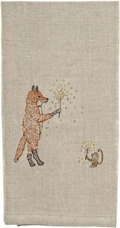♒ Enchanting Embroidery ♒ embroidered fox and monkey