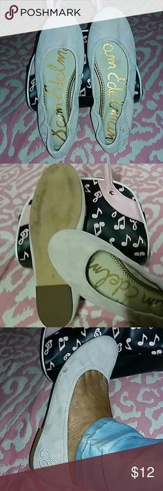 GENTLY WORN SAM EDELMAN PALE PINK FLATS Pale pink swede flats baby dolls super comfy CASUAL GENTLY worn...light color picks up dirt easily....very versatile and goes with just about everything for summer Sam Edelman Shoes Flats & Loafers