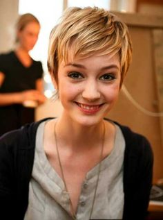 Super cute but I bet the color is a big part of the appeal. Bob Pixie Haircut with Bangs
