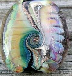 Sea sunset  1 Focal Bead 34x34 mm  SRAH67. $45.00, via Etsy.