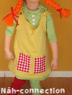 Näh-Connection: KCW Tag? Pippi Langstrumpf Kostüm - KCW day? Pippi Longstocking costume
