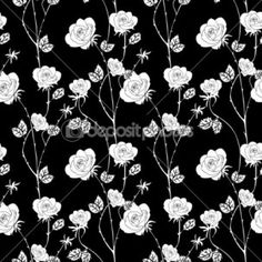 Abstract seamless pattern with flowers roses Tapestry Floral ...