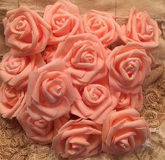 Peach roses by TeasHopeChest on Etsy