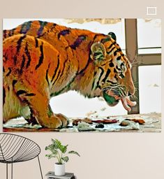 Sibirischer Tiger im Tiergarten frisst Kaninchen Tiger Poster, Cool Photos, Amazing Photos, Animal Wallpaper, Illustration, Animals, Colors, Siberian Tiger, Printing On Wood