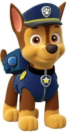 Paw Patrol - Meet the characters from the Nickelodeon hit show for preschoolers, Paw Patrol.: Chase from Paw Patrol Paw Patrol Rocky, Paw Patrol Birthday Cake, Paw Patrol Party, Birthday Cake Toppers, Paw Patrol Games, Paw Patrol Cartoon, Paw Patrol Clipart, Paw Patrol Toys, 3rd Birthday Parties