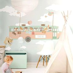 Love this! #wallpaper #kidsroom