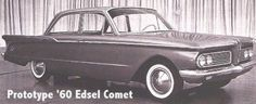 """Facebook - Prototype 1960 Edsel (not yet Mercury) Comet.  I think that Shirley Jones drove a '60 or '61 Mercury Comet 2-door wagon, at the start of the pilot episode, of """"The Partridge Family."""""""